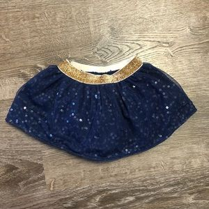 💙Precious Navy/ Gold Sequin Skirt💙